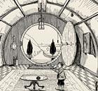 A ilustração de Tolkien da casa de Bilbo