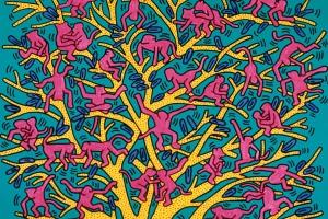 The Tree of Monkeys, 1984, Keith Harring